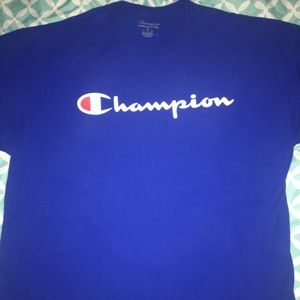 Champion Authentic Athleticwear XL Blue Tshirt